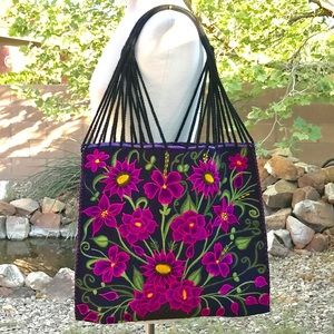 Handbags - Mexican Handwoven Huipil Bag Boho Style